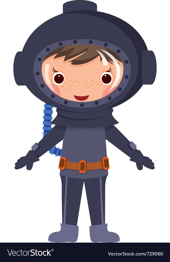 Cartoon diver vector | Price: 3 Credit (USD $3)