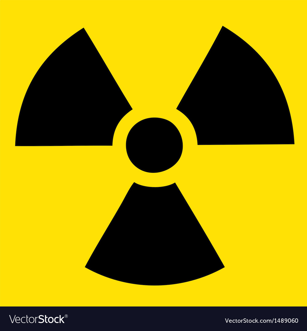 Caution radiation danger vector | Price: 1 Credit (USD $1)