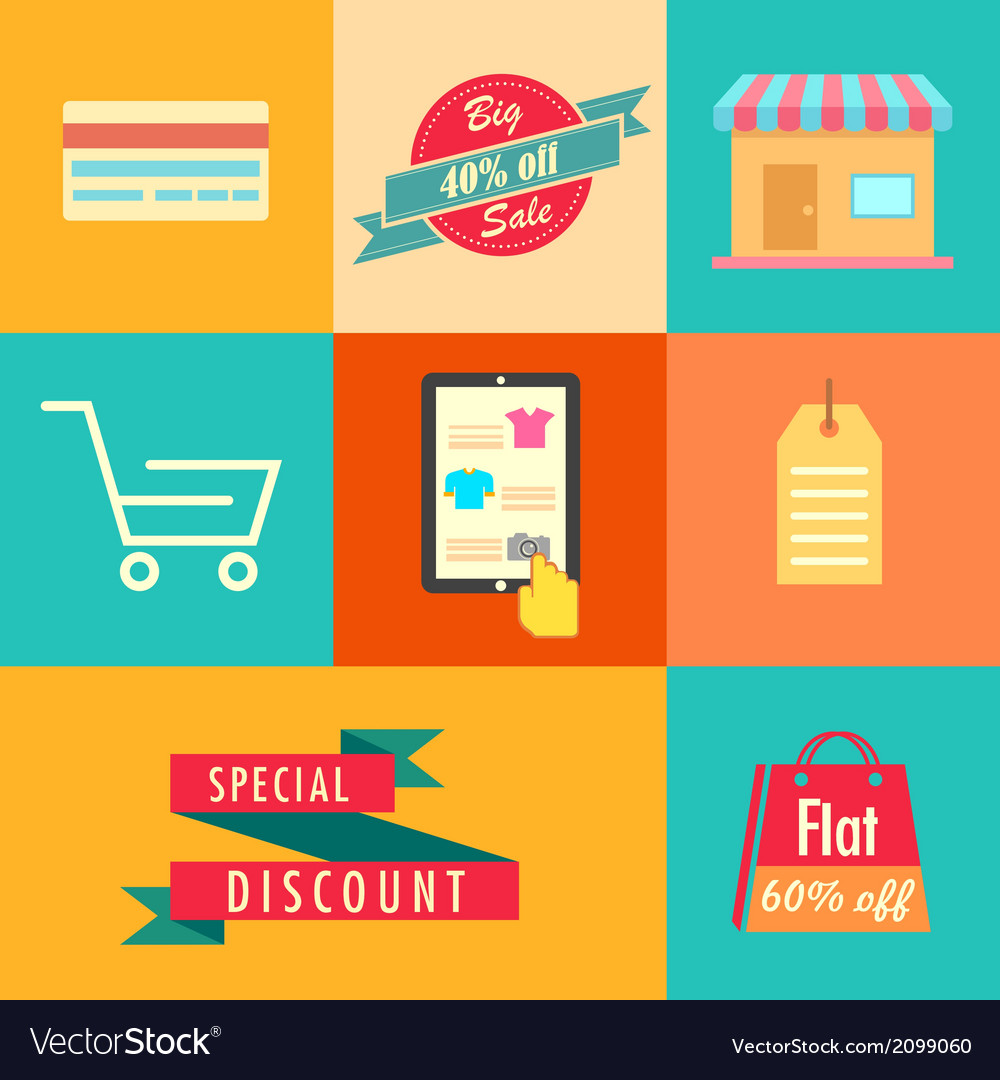Flat sale banner vector | Price: 1 Credit (USD $1)