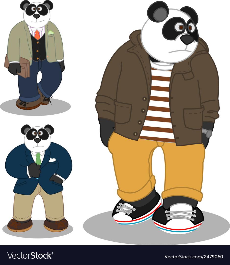 Panda lifestyle vector | Price: 1 Credit (USD $1)