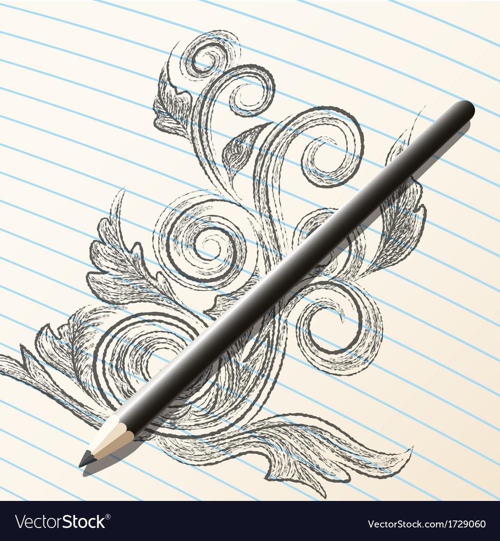Pencil sketch vector | Price: 1 Credit (USD $1)