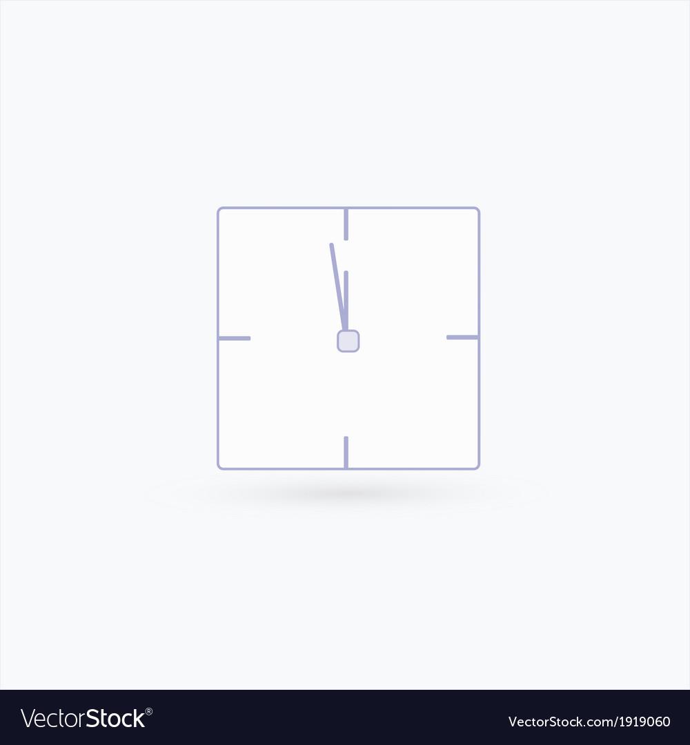 Rectangular watch icon vector | Price: 1 Credit (USD $1)