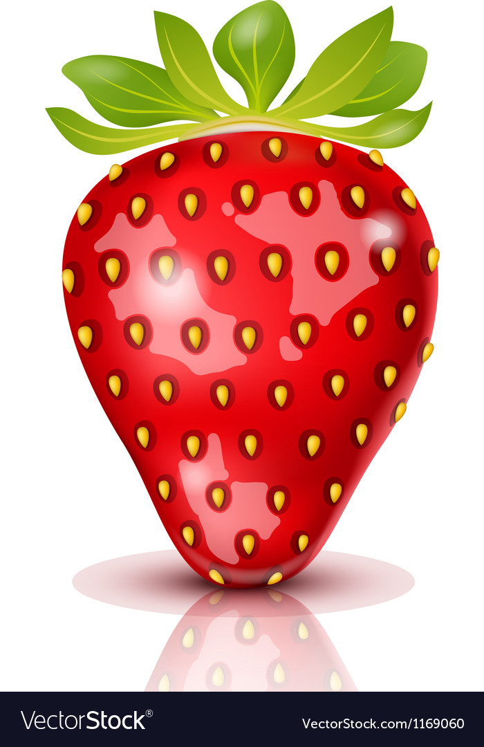 Strawberry isolated vector | Price: 3 Credit (USD $3)