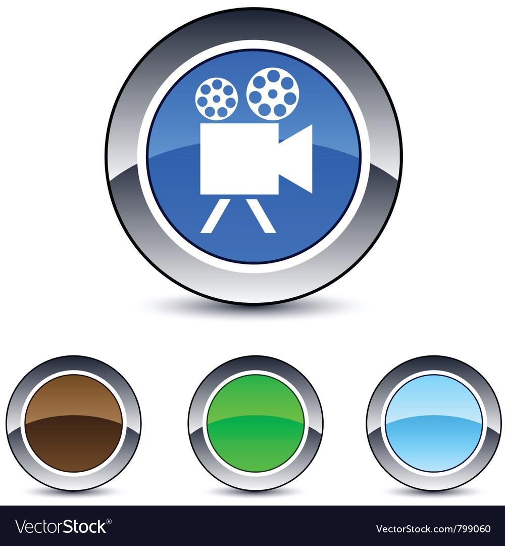 Video camera round button vector | Price: 1 Credit (USD $1)