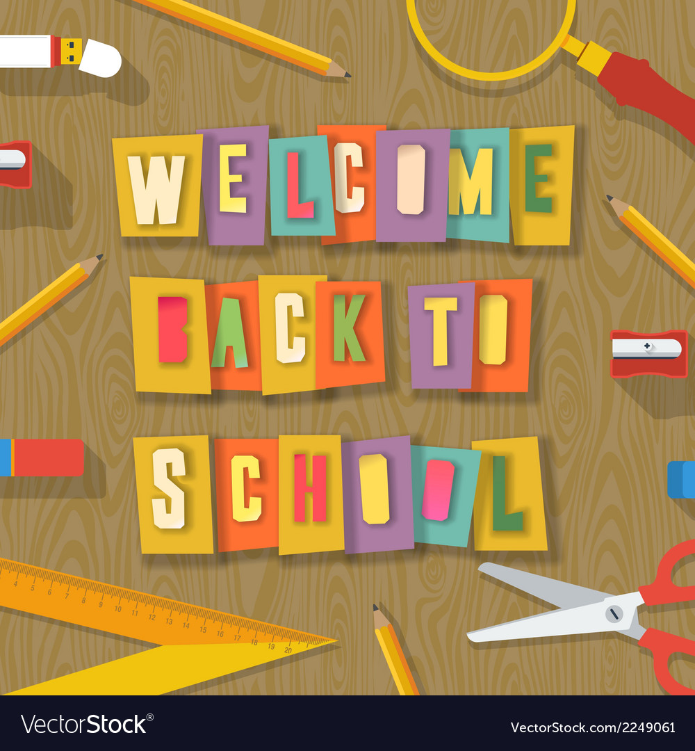 Back to school background paper collage vector | Price: 1 Credit (USD $1)