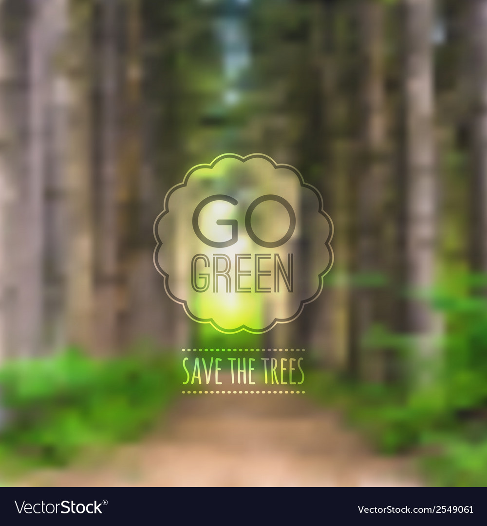 Ecological blurred with road trees and labe vector   Price: 1 Credit (USD $1)