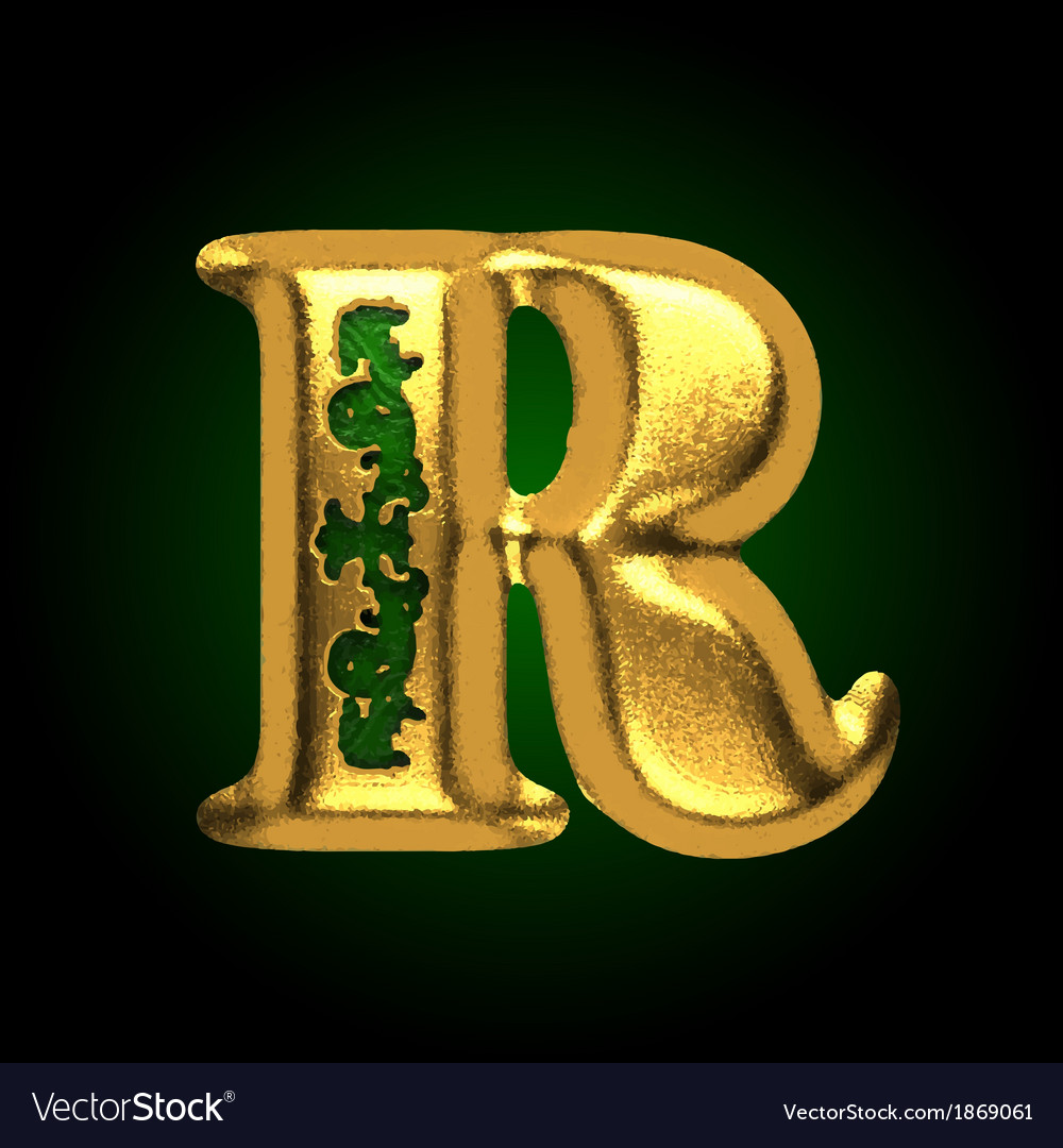 Golden letter r vector | Price: 1 Credit (USD $1)
