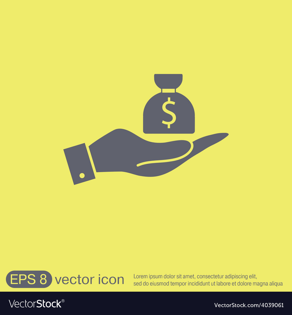 Hands holding bag of money vector | Price: 1 Credit (USD $1)