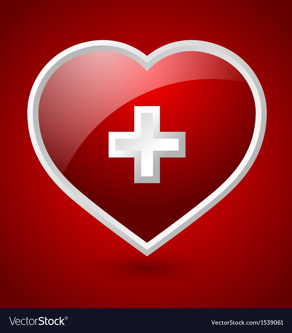 Medical heart icon vector | Price: 1 Credit (USD $1)