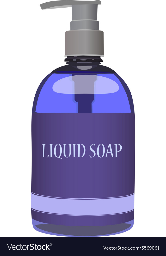 Purple soap bottle vector | Price: 1 Credit (USD $1)