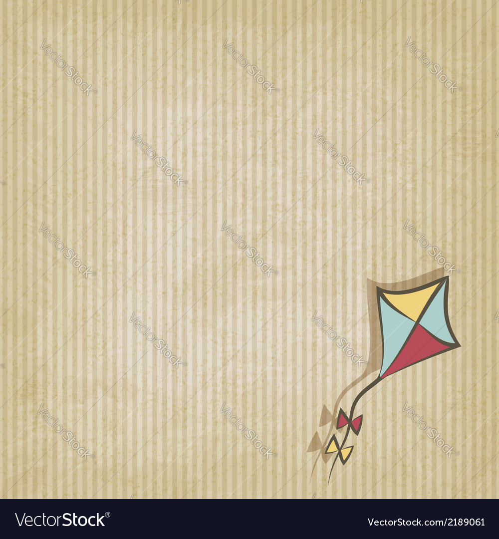 Retro background with kite vector | Price: 1 Credit (USD $1)