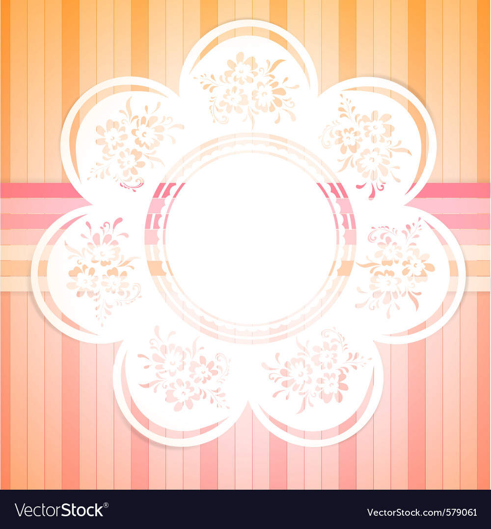 Retro round frame with floral elements vector | Price: 1 Credit (USD $1)