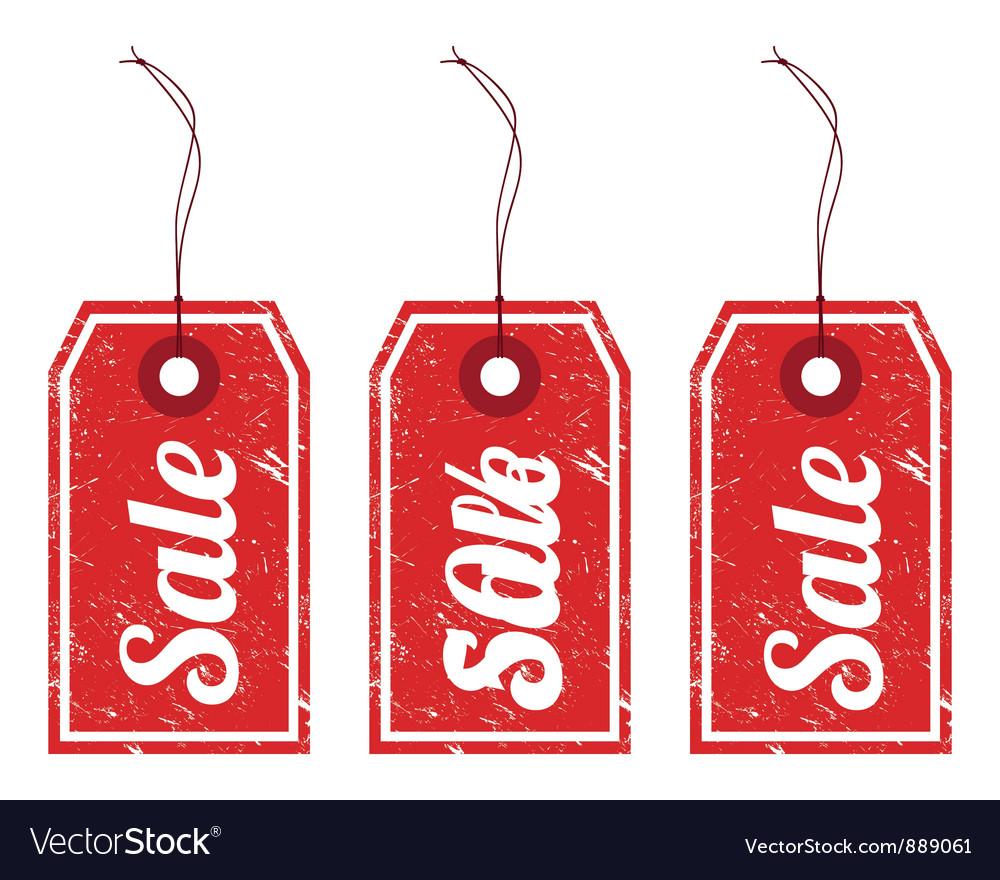 Sale vintage price tags vector | Price: 1 Credit (USD $1)