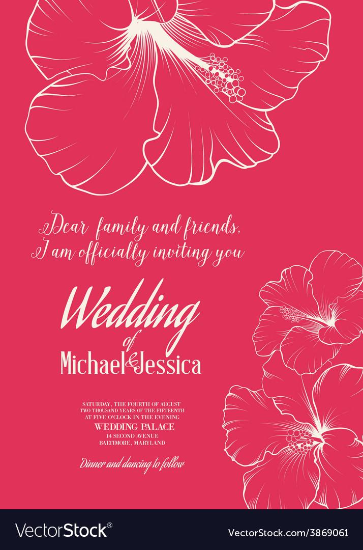 Wedding invitation template vector | Price: 1 Credit (USD $1)