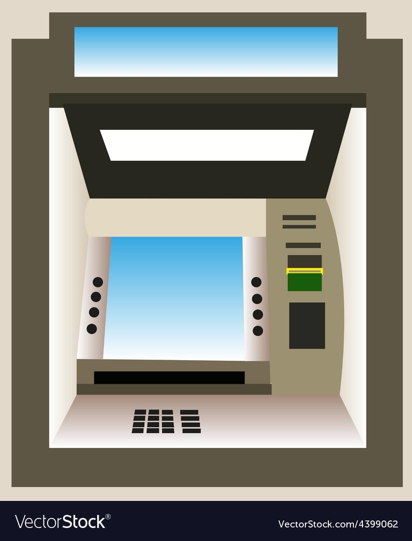 Atm machine background vector | Price: 3 Credit (USD $3)