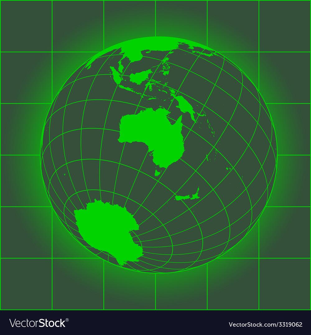 Australia green vector | Price: 1 Credit (USD $1)
