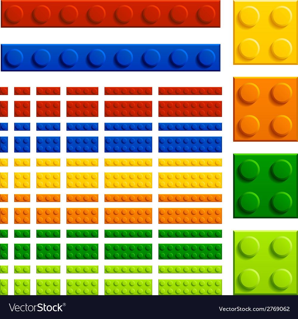 Children plastic bricks toy vector | Price: 1 Credit (USD $1)