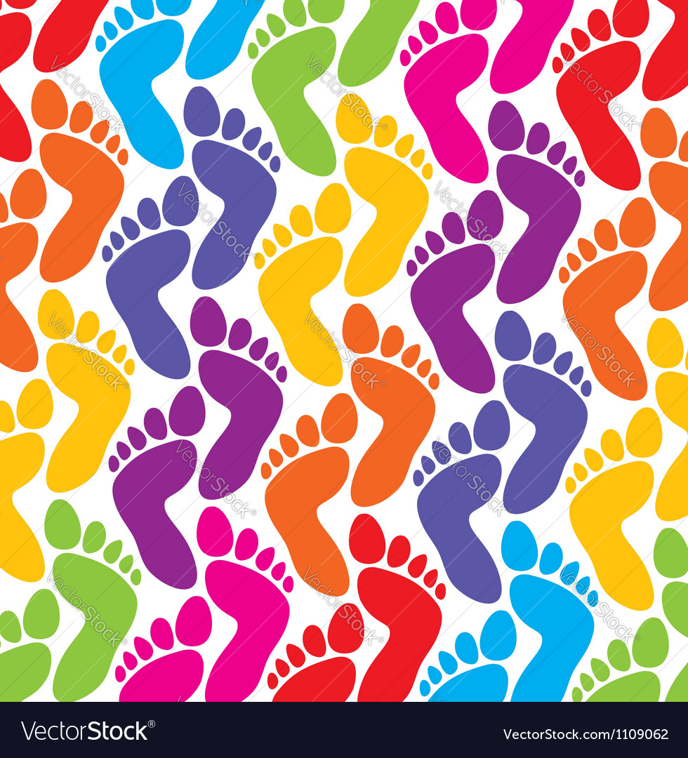 Colorful feet background vector | Price: 1 Credit (USD $1)