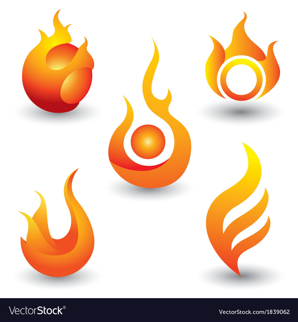 Fire flames symbol icon vector | Price: 1 Credit (USD $1)