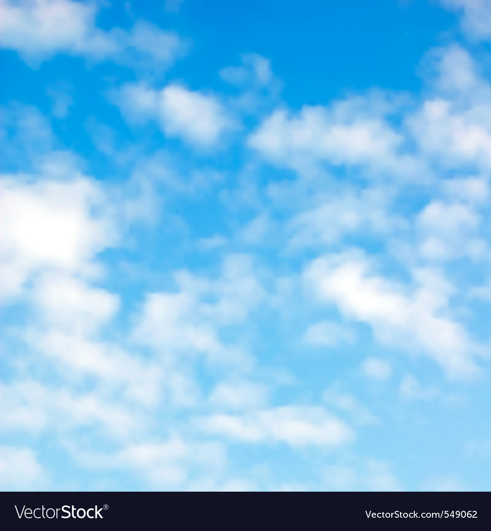 Fluffy clouds vector | Price: 1 Credit (USD $1)