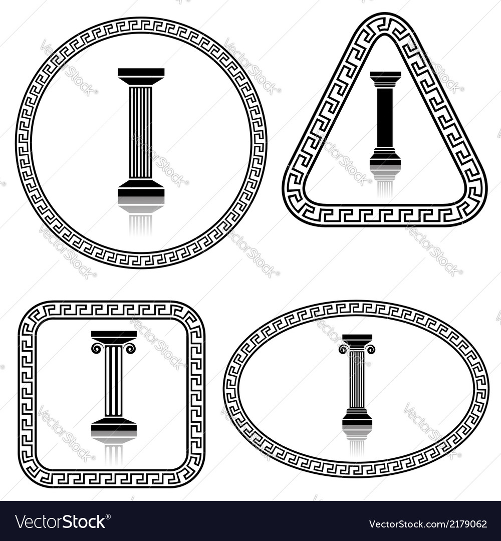 Silhouettes of columns vector | Price: 1 Credit (USD $1)