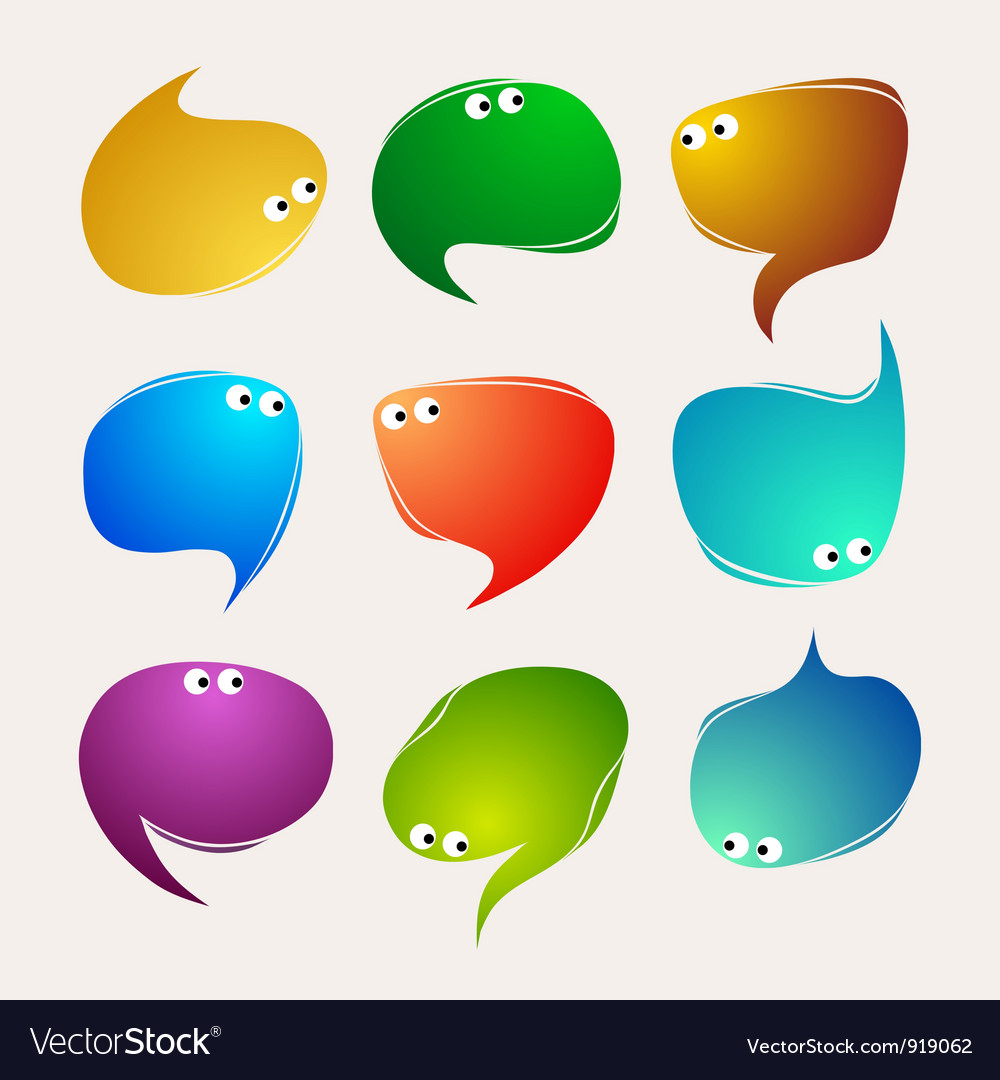 Speak bubbles vector | Price: 1 Credit (USD $1)