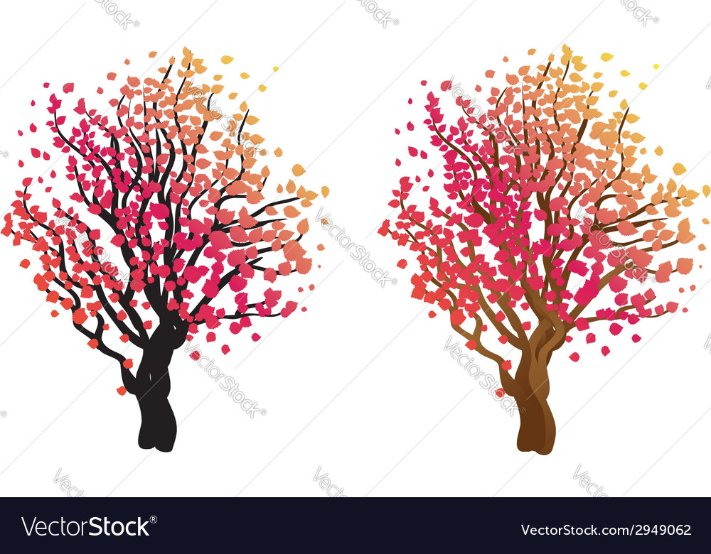 Stylized autumn tree7 vector | Price: 1 Credit (USD $1)