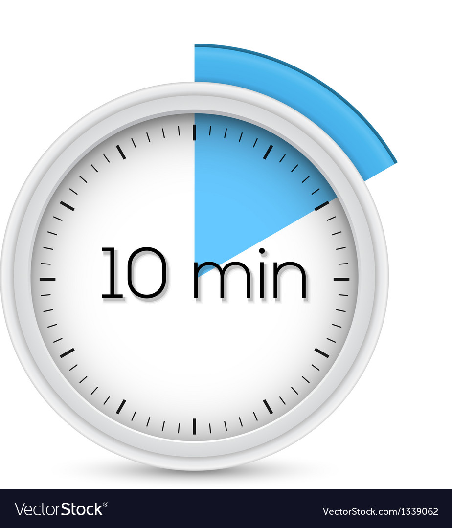 Ten minutes timer vector | Price: 1 Credit (USD $1)