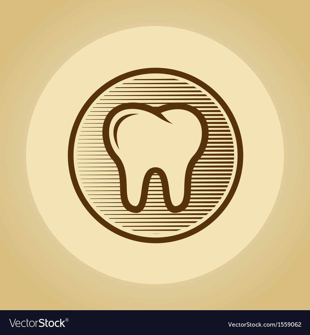 Tooth logo in retro style vector | Price: 1 Credit (USD $1)