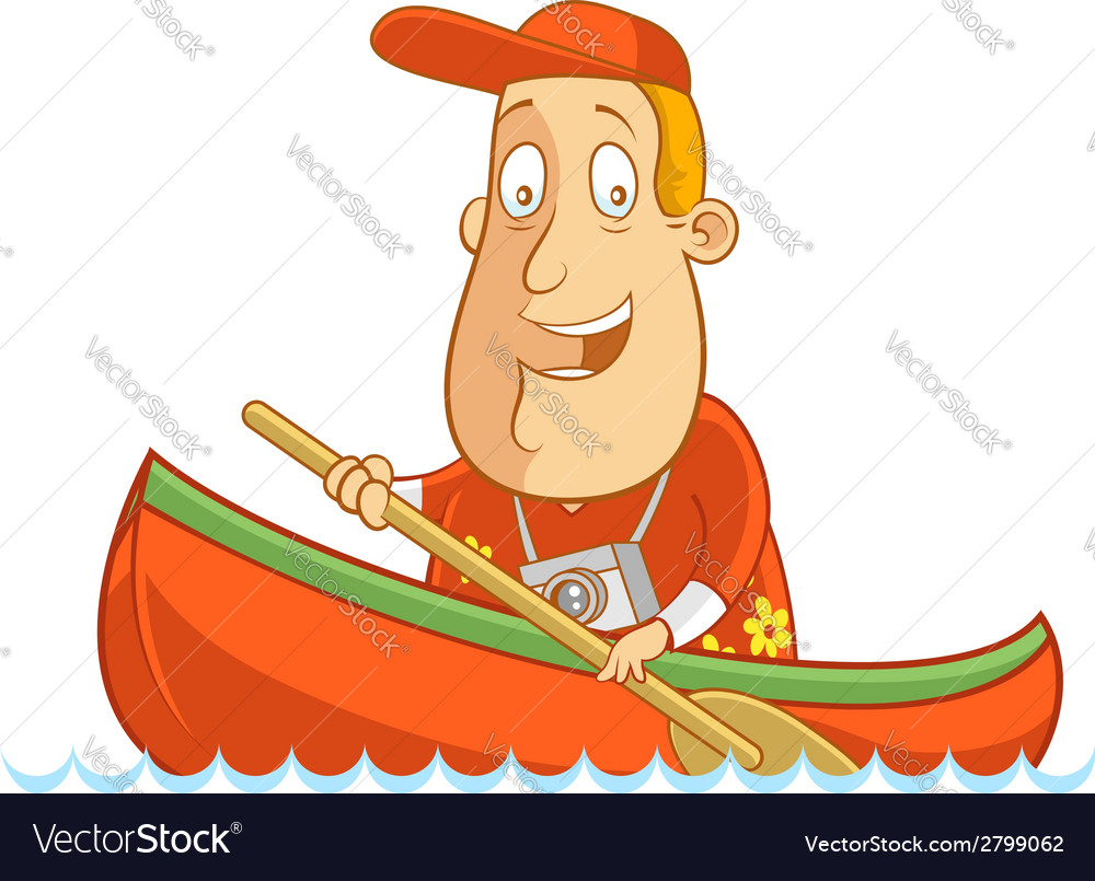 Tourist canoe vector | Price: 1 Credit (USD $1)