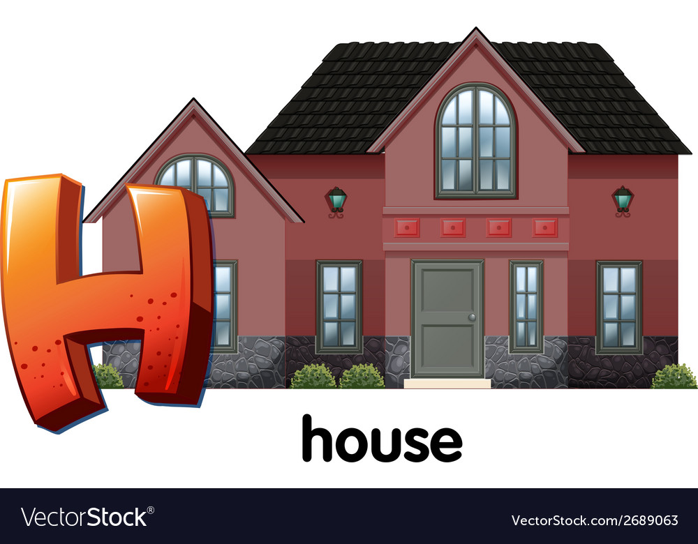 A letter h for house vector | Price: 1 Credit (USD $1)