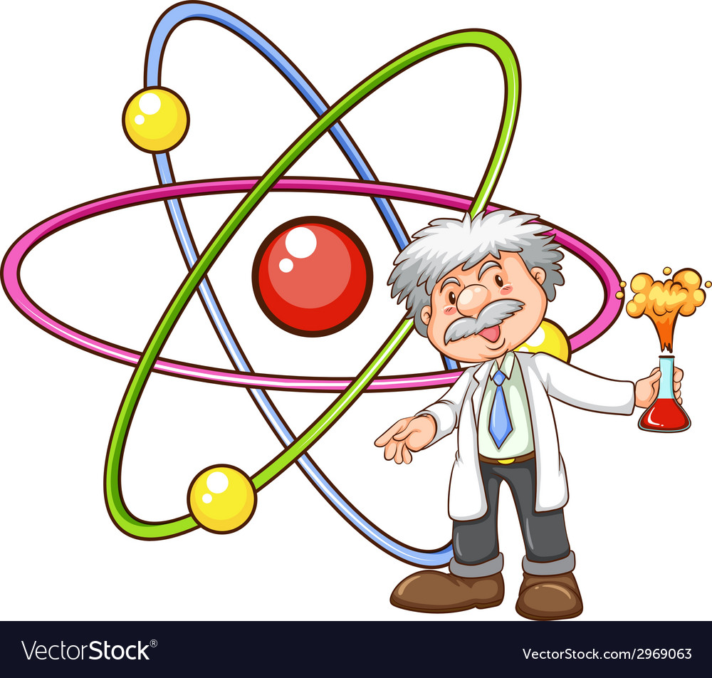 A scientist vector | Price: 1 Credit (USD $1)