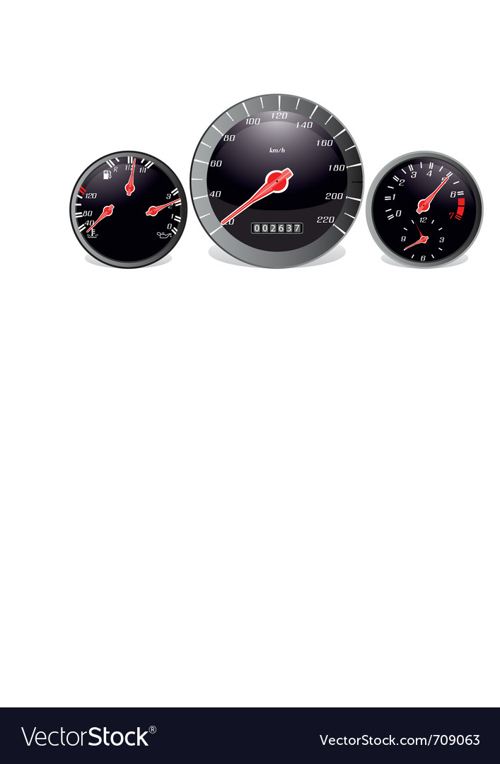 Car dashboard vector | Price: 1 Credit (USD $1)