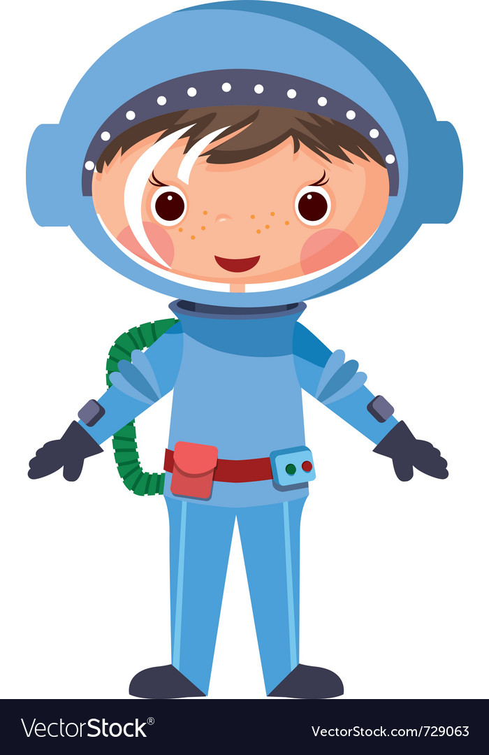 Cartoon astronaut vector | Price: 3 Credit (USD $3)