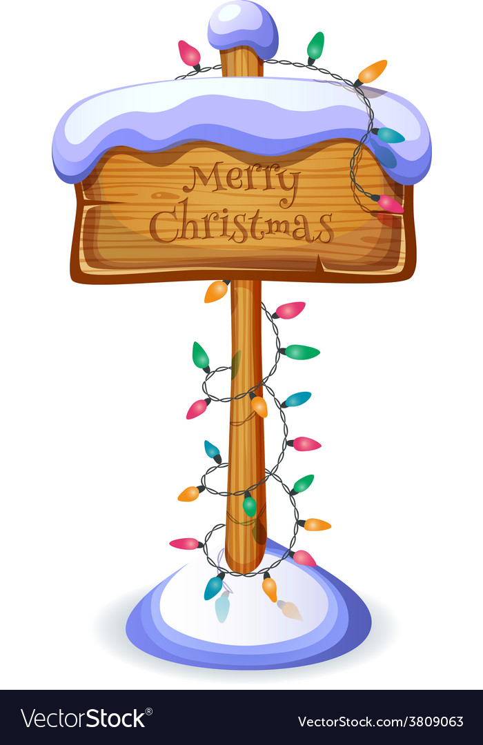 Christmas sign board isolated vector | Price: 3 Credit (USD $3)