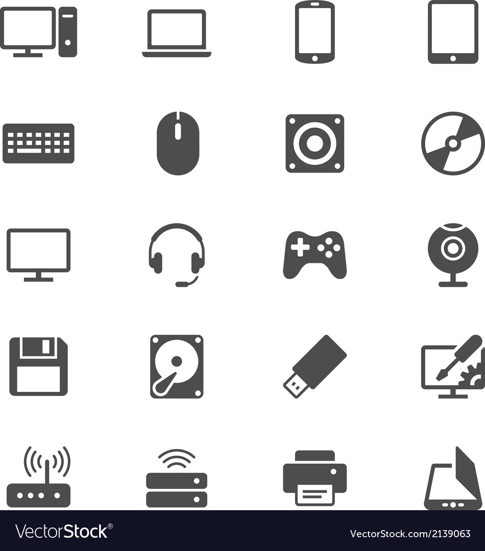 Computer flat icons vector | Price: 1 Credit (USD $1)