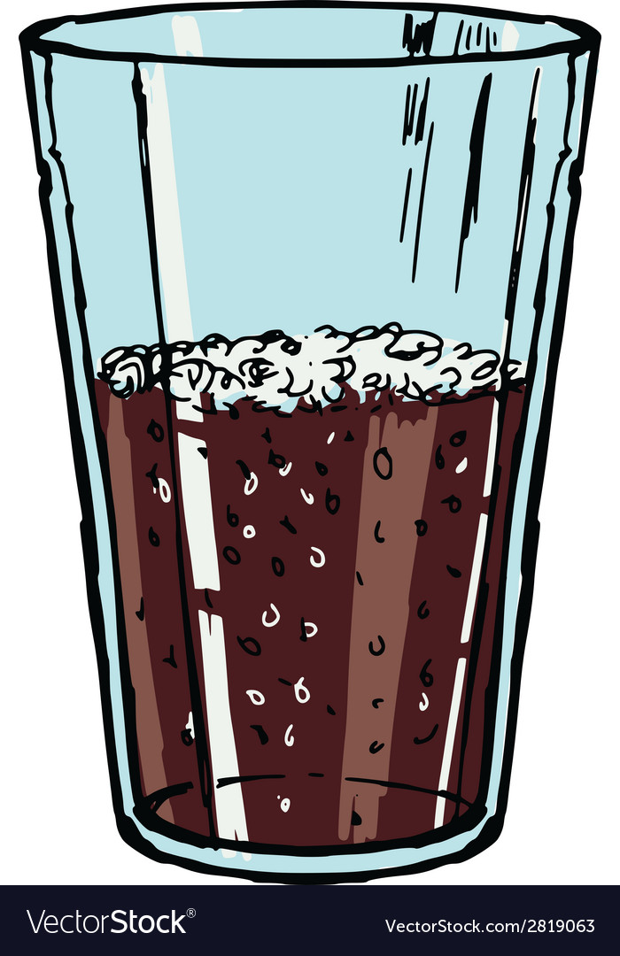 Glass of cola vector | Price: 1 Credit (USD $1)