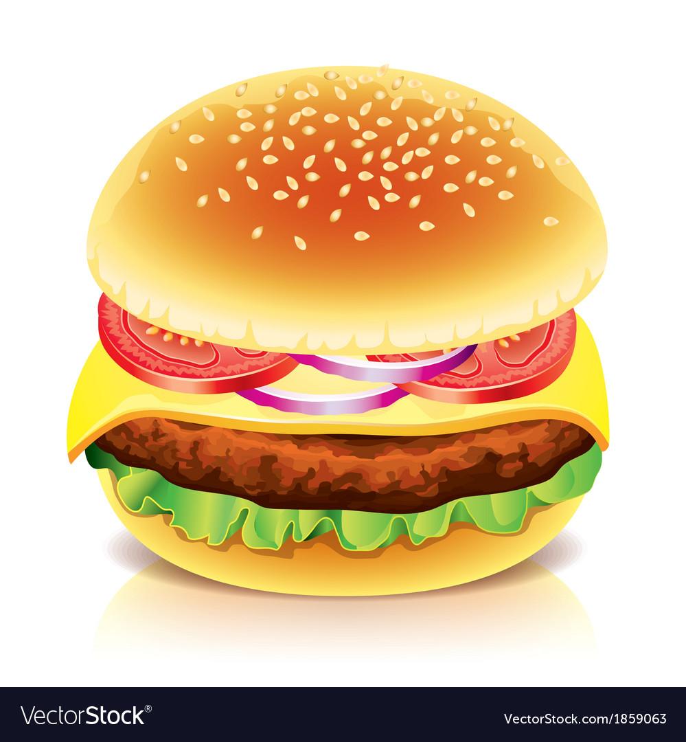 Object hamburger vector | Price: 1 Credit (USD $1)