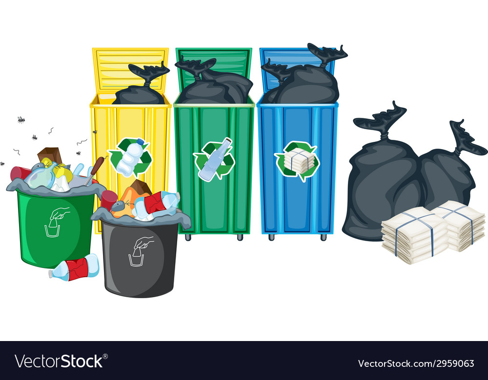 Rubbish bins vector | Price: 1 Credit (USD $1)