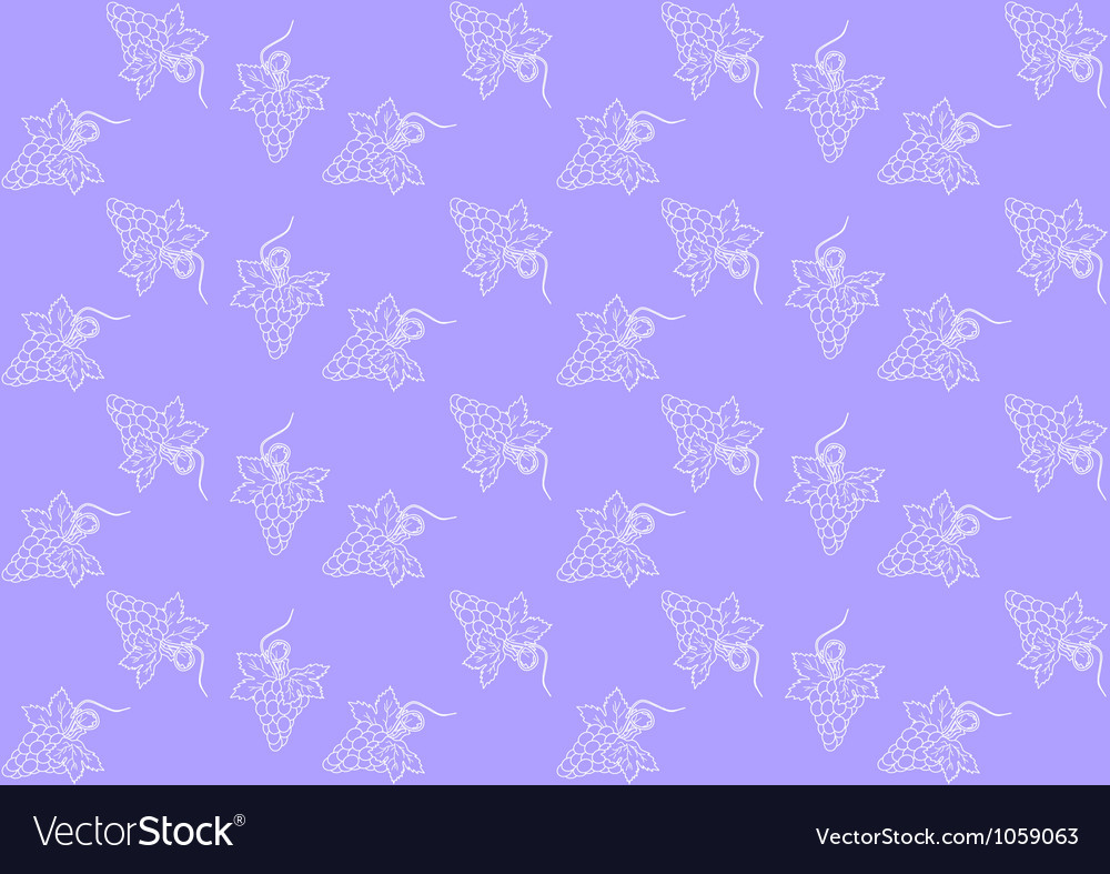 Seamless pattern with grapes vector | Price: 1 Credit (USD $1)