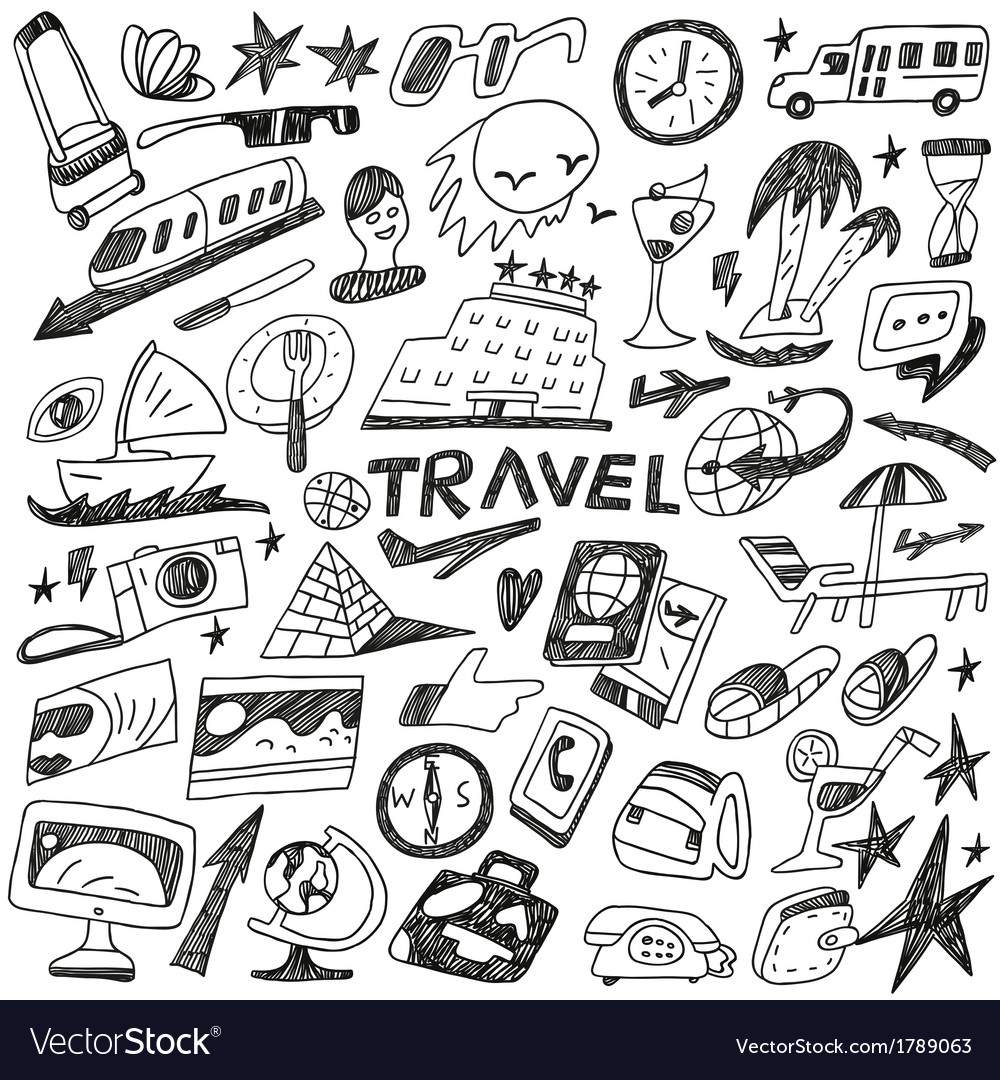 Travel - doodles set vector | Price: 1 Credit (USD $1)
