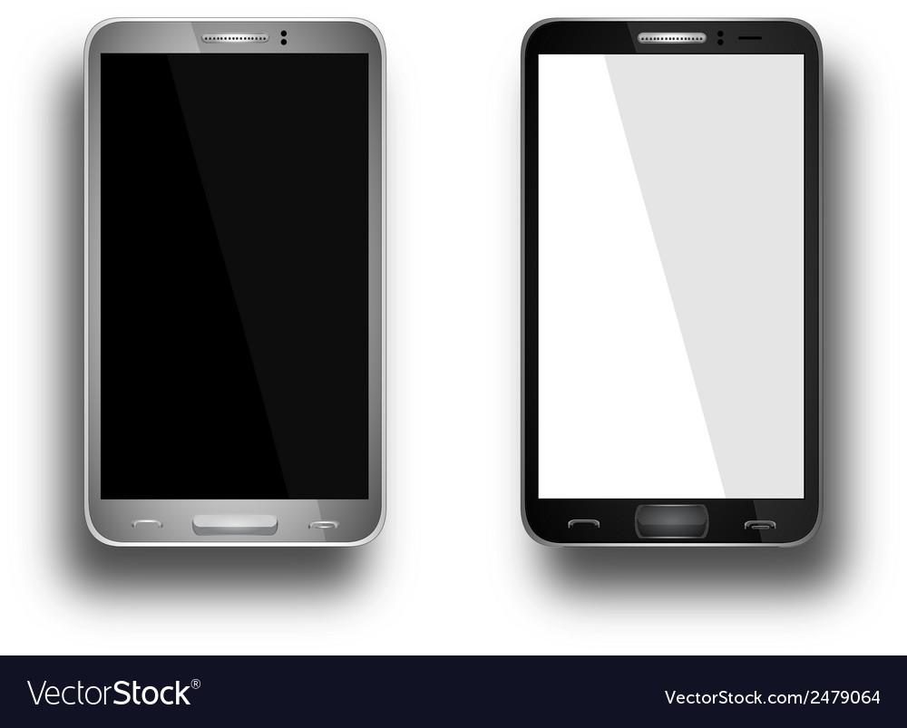 A mobile phones black and silver vector | Price: 1 Credit (USD $1)