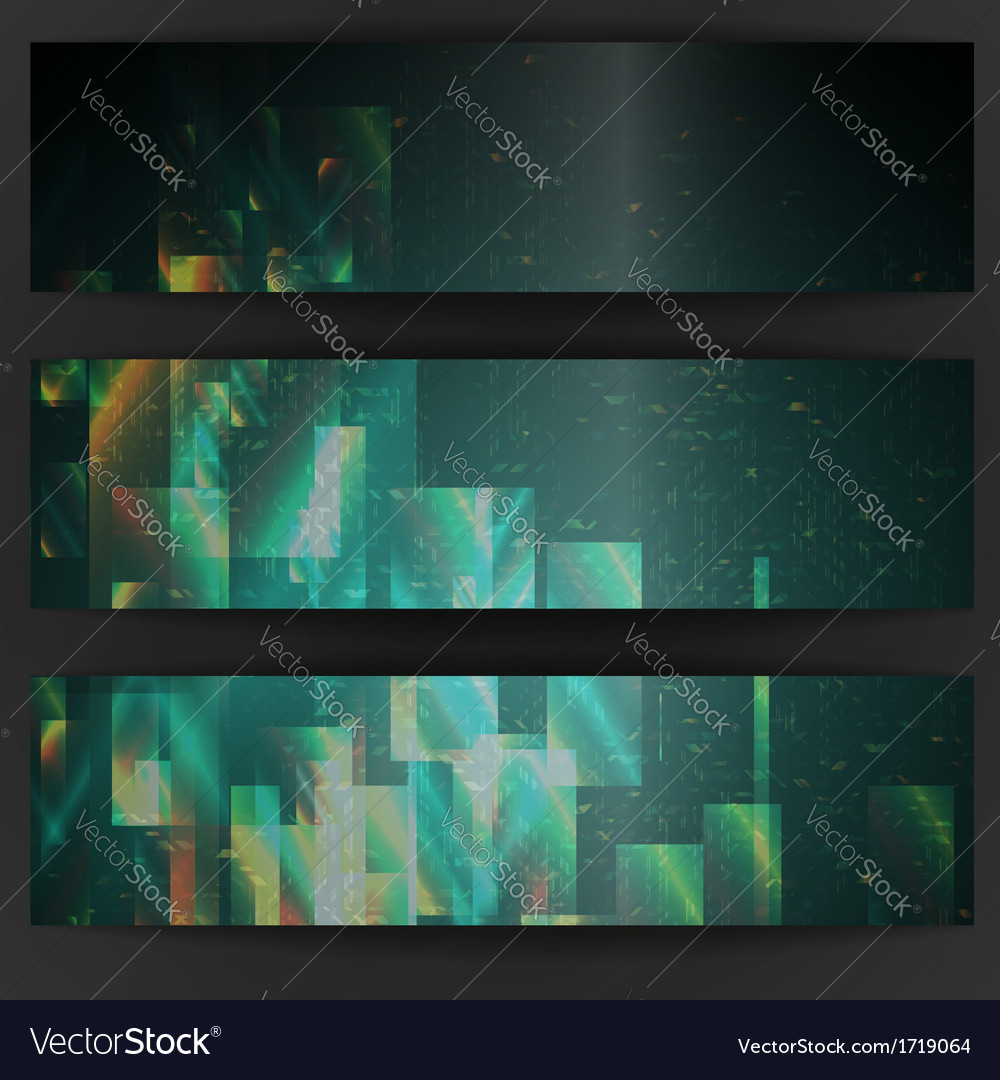 Abstract geometric banner vector | Price: 1 Credit (USD $1)