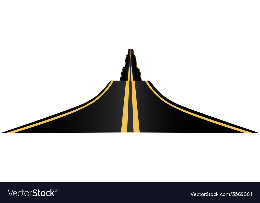 Asphalted road vector | Price: 1 Credit (USD $1)