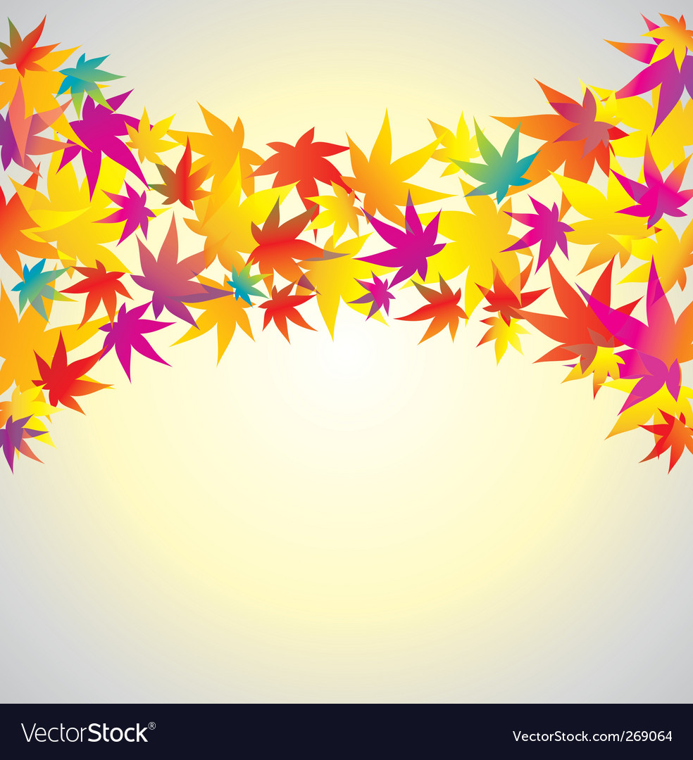 Autumn background maple vector | Price: 1 Credit (USD $1)