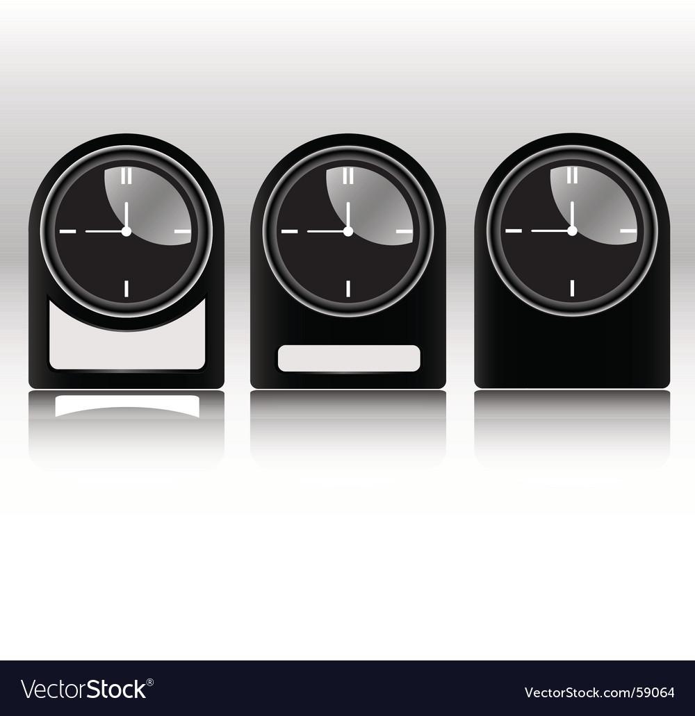 Black clocks vector | Price: 1 Credit (USD $1)