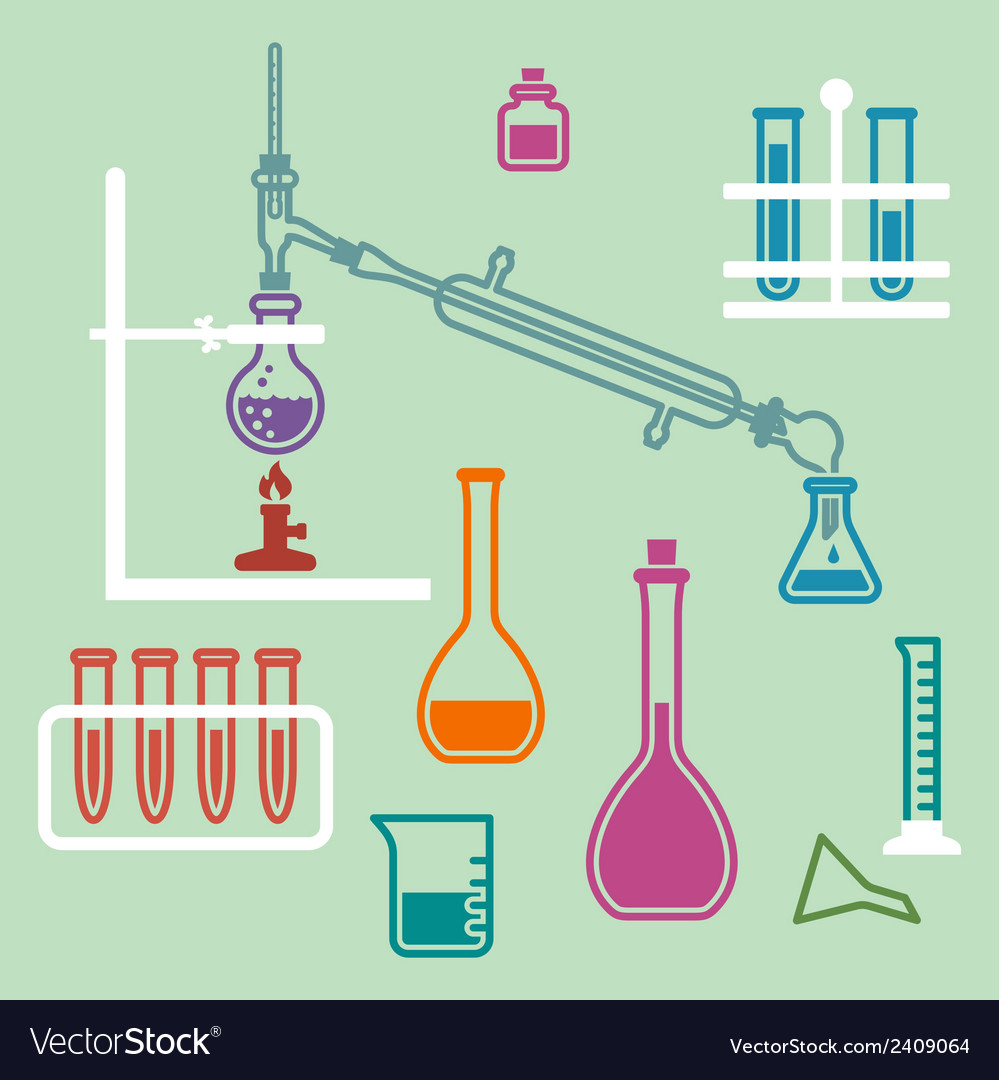 Chemistry lab equipment vector | Price: 1 Credit (USD $1)