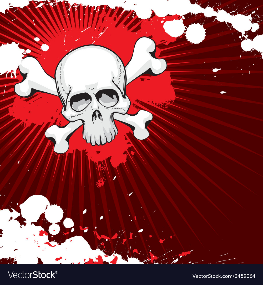 Grunge skull 2 vector   Price: 1 Credit (USD $1)