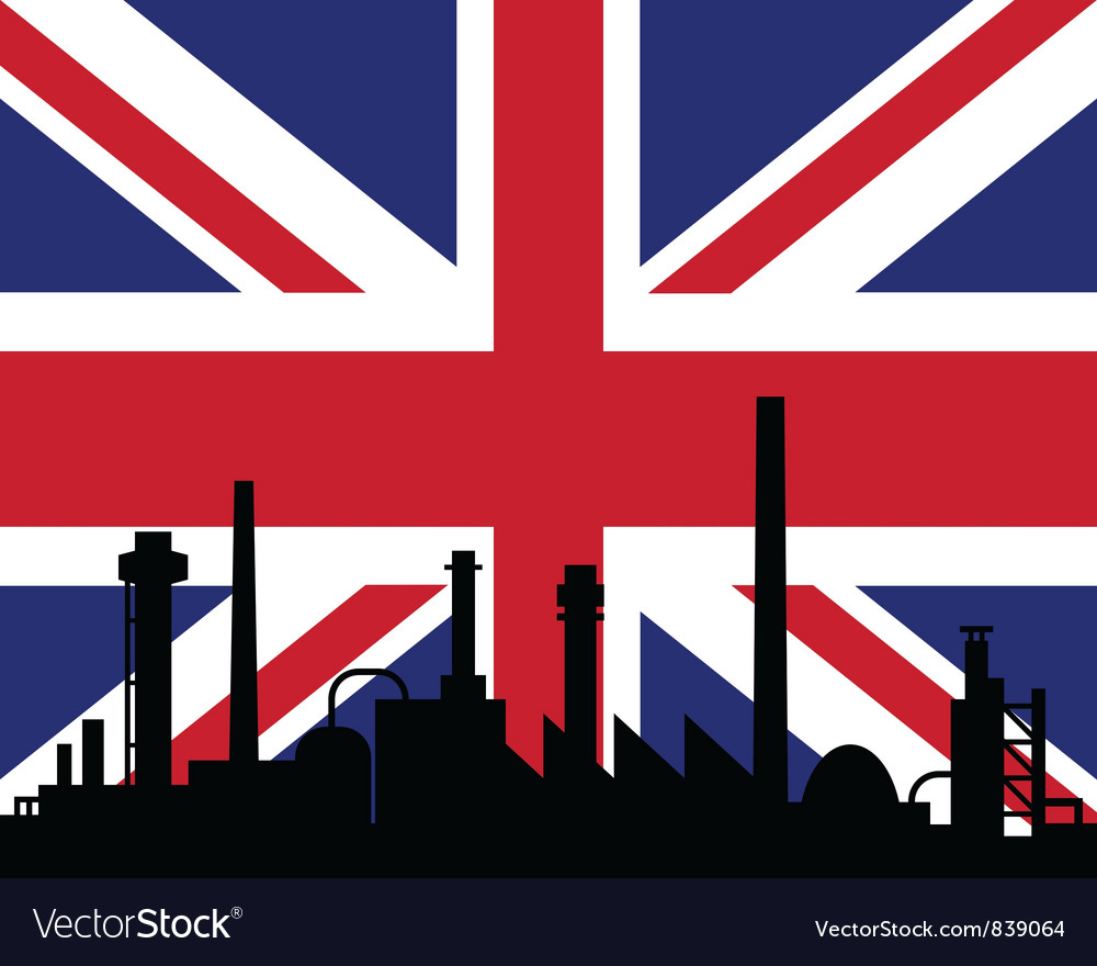 Industry and flag of great britain vector | Price: 1 Credit (USD $1)