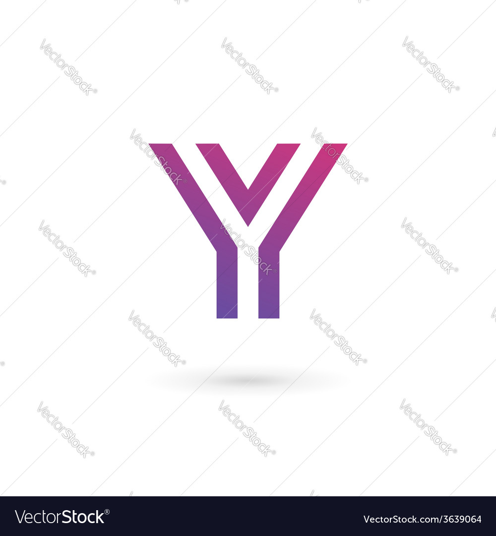 Letter y logo icon design template elements vector
